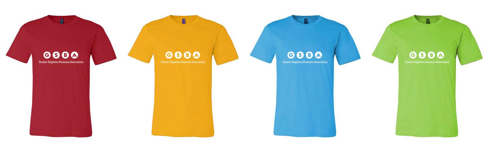 GSBA tshirt colors